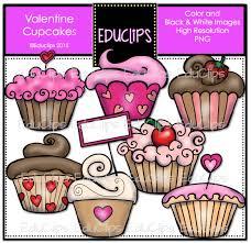 Valentine Cupcakes Clip Art