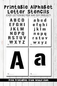 Printable Alphabet Letter Stencils Woo Jr Kids Activities