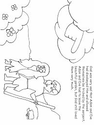 Coloring Page Place Adam And Eve Pages