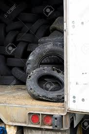 100 Old Semi Trucks Used Worn Tire Tread Waste Tires Of Different Sizes And Treads