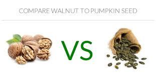 Pumpkin Seeds Glycemic Index by Walnut Vs Pumpkin Seed In Depth Nutrition Comparison