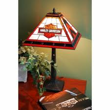 Harley Davidson Light Fixtures by Davidson Trade Mark Bar U0026 Shield Tiffany Style Mission Lamp