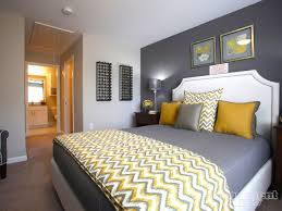 We Love This Yellow Gray Palette In Bedroom
