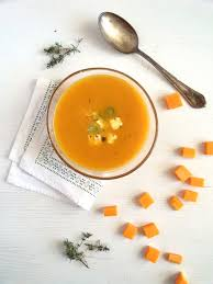 Spicy Pumpkin Butternut Squash Soup by Butternut Squash Soup With Feta Topping