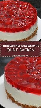quarkpuddingkuchen mit erdbeeren und kuchenglasur ohne zu