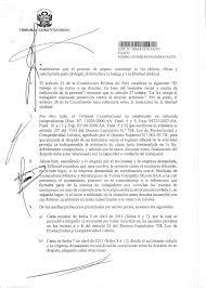 SENTENCIA DEL TRIBUNAL CONSTITUCIONAL En Lima A Los 25 Días Del Mes