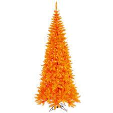 Vickerman Pre Lit Flocked Christmas Tree by Shop Vickerman 6 5 Ft Pre Lit Whimsical Slim Artificial Christmas