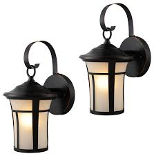 outdoor light fixtures set of 2 rubbed bronze traditional