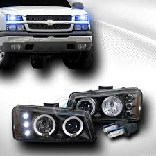 10000k hid xenon w blk led halo projector lights l 03 06