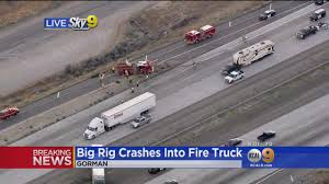 Big Rig Crashes Into Fire Truck Responding To Freeway Accident – CBS ... Big Fire Heavy In Warehouse Rc Truck Trucks Big Fire Engine Truck During A Drill In The Brigade Fire Engine Vector Illustration Of Transportation Leonido 1956 Chevy 4400 Truck See The View Trucks In File1939 Dennis 6 12318636564jpg Wikimedia Commons San Onofre Trucks Come To Creeks Rescue Edison Intertional 1953 Ford F800 Job Item De6607 Sold Marc City Vol 1 001950 Donald Wood Sorsennew Rentals 4 Hire Tn Event Specialist Graveyard Red Firetrucks Baltimores Day Lets Kids Explore Baltimore Sun Franks Read By Ab Youtube
