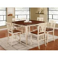 5 Piece Counter Height Dining Room Sets by White And Cherry 5 Piece Counter Height Dining Set Transitional