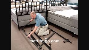 Raymour And Flanigan Metal Headboards by Beducation How To Assemble A Bed Frame Youtube