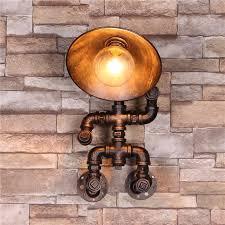 wandleuchte editon rohr wandle industrielle vintage led industrielle beleuchtung retrole fuer küchen wohnzimmer esszimmer restaurant keller