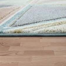kurzflor teppich rauten muster mehrfarbig