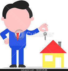 Realtor Key To House Clipart