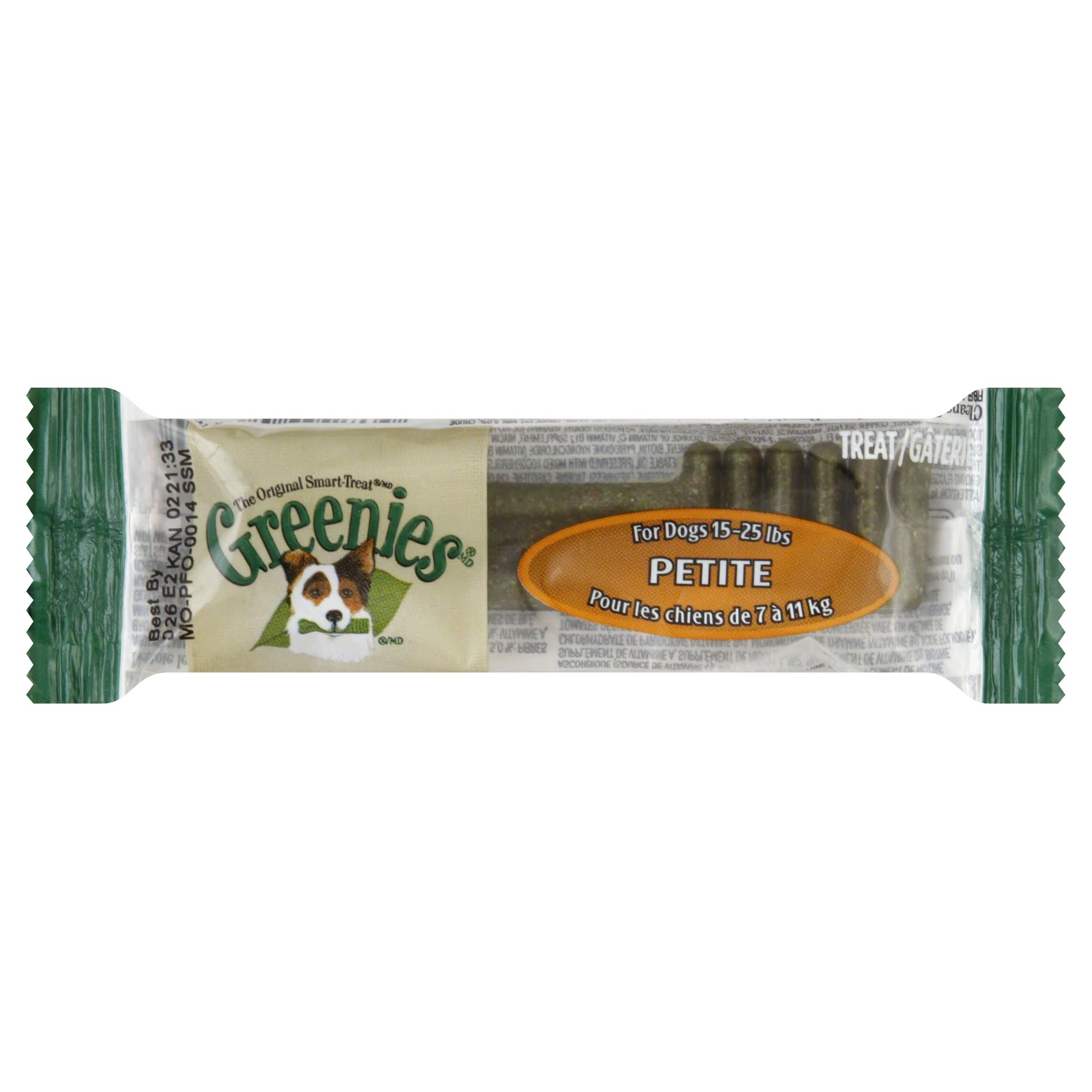 Greenies Petite Single Dog Dental Treat - Pack 25