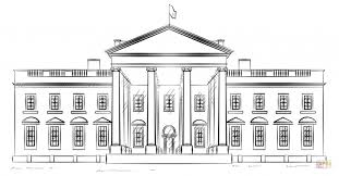 Splendid Ideas White House Coloring Page
