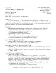 Spa Therapist Resume Physical Therapy Examples Templates Entry Level Massage With Regard To A Sample