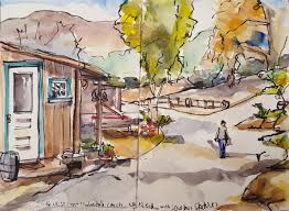 Christmas Tree Recycling Carmel Valley San Diego by West Coast Clydesdale Ranch San Diego Ca Urban Sketchers