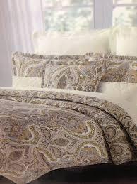 Tahari Home Bedding by Tahari Home Beige Brown Slate Blue Grey Queen Comforter Set 6