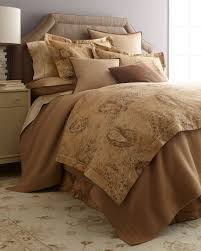 Noble Excellence Bedding by Verdonnet King Paisley Dust Skirt Camels Comforter And Bedskirts