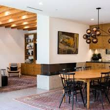 Inspiration For A Contemporary Concrete Floor And Gray Dining Room Remodel In Los Angeles With