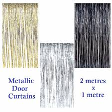 Foil Fringe Curtain Nz by 2m Metallic Tinsel Door Curtain Backdrop Foil Kids Party Shiny