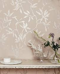 edle tapete sefina im floralen look in beige rosa und silber