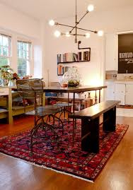 Standard Size Rug For Dining Room Table by Beautiful Average Dining Room Design With Red Persian Rug Size