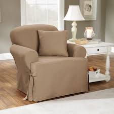 Stretch Suede Wing Chair Recliner Slipcover by Living Room Sure Fit Stretch Pinstripe T Cushion Two Piece Sofa