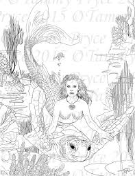 Mermaid Coloring Pages Adult