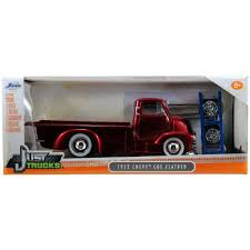 100 Dc Toy Trucks Just 124 Diecast W14 1952 Chevy COE Flatbed Candy Red