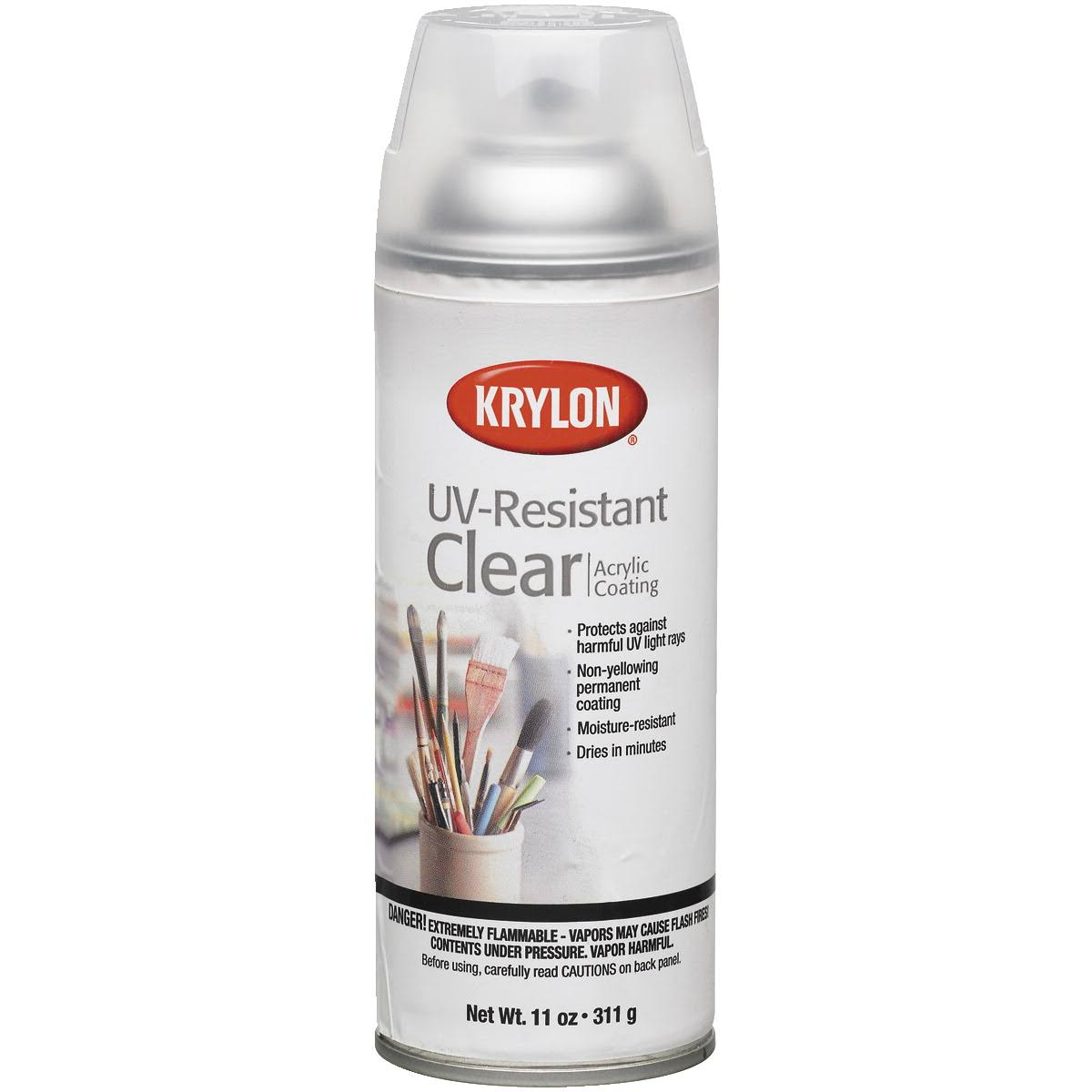 Krylon Artist UV-Resistant Spray Paint - Clear Gloss, 11oz