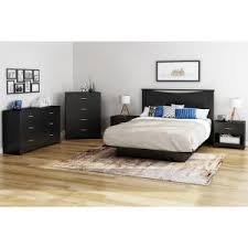 South Shore Libra 3 Drawer Dresser by South Shore Libra 3 Drawer Pure Black Dresser 3070028 The Home Depot