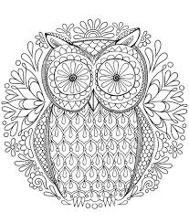 Inspirational Design Ideas Color Pages For Adults Free Owl Coloring Page By Thaneeya