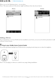 Page 4 Of F7C027 WeMo Smart Switch User Manual Belkin International Inc