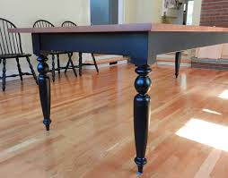 Dining Table Turned Legs Detail 0191 800w