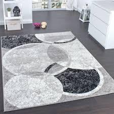 teppich wohnzimmer kreis muster kurzflor