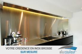 cuisine inox sur mesure crédence en inox brossé 60 cm x 80 cm 1mm alucouleur fr