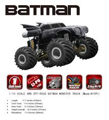 100 Monster Truck Batman NO1091 BRUSHED MONSTER TRUCK BATMAN Remo Hobby