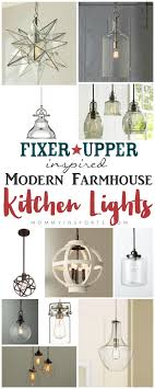 fixer inspired modern farmhouse kitchen lights kristen hewitt