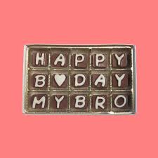 Happy Birthday My Brother Cubic Chocolate By What Candy Says On Zibbet