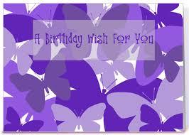 Birthday Wishes Purple