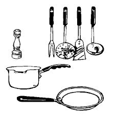 ustensiles de cuisine en ligne gratuit à imprimer