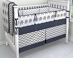 Amazon 7 Pieces Set Elephant Crib Bedding Baby Bedding Set