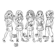 Best Lego Friends Coloring Page Color Gallery