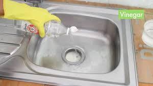 Slow Draining Bathroom Sink Vinegar by 3 Ways To Unclog A Kitchen Sink Wikihow