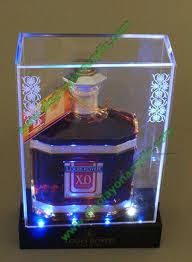 LED Wine Bottle Acrylic Display Case