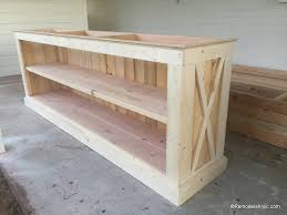Build A Farmhouse Style Planked X Tv Console Or Sideboard Remodelaholic 25