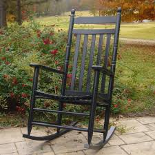100 Hinkle Southern Rocking Chairs Indoor Outdoor Country Chair Porch Rocker Slat Black Resin